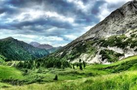 Breathtaking panorama of Italian's Dolomiti Mountains