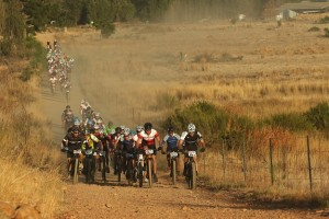 A group of riders head out at the start of stage 2 of the 2016 Absa Cape Epic Mountain Bike stage race from Saronsberg Wine Estate in Tulbagh, South Africa on the 15th March 2016 Photo by Shaun Roy/Cape Epic/SPORTZPICS PLEASE ENSURE THE APPROPRIATE CREDIT IS GIVEN TO THE PHOTOGRAPHER AND SPORTZPICS ALONG WITH THE ABSA CAPE EPIC {ace2016}
