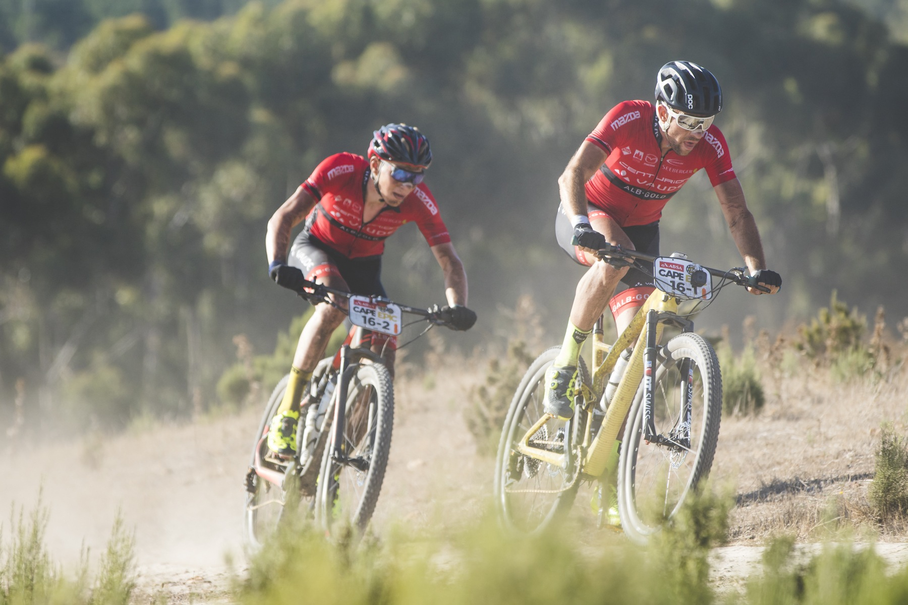 Nicola Rohrbach und Daniel Geismayr. (c) Ewald Sadie/Cape Epic/SPORTZPICS