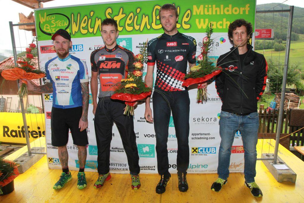 Podium Extreme - vlnr Martin Mayer, Christoph Mick, Alexander Sommer, Markus Löw -XC club Mühldorf