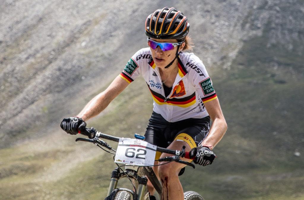 Siegerin in der Damenklasse beim 23. Ischgl Ironbike Silke Ulrich