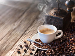 The Good Morning Begins With A Good Coffee – Morning Light Illuminates The Traditional Espresso