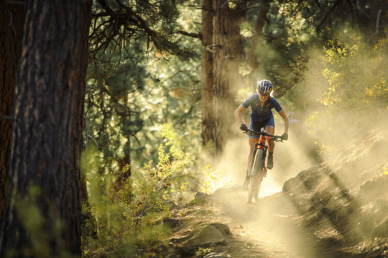 Kate Courtney goes on a training ride in Bend, OR, USA on 10 October, 2017.