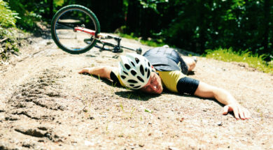 Cyclist Fallen From His Bike